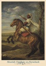 Moorish Chieftain On Horseback poster print by Tim Ashkar