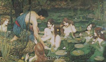 Hylas And The Nymphs poster print