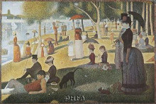 Sunday Afternoon On The Island poster print by Georges Seurat