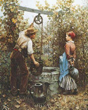 At The Well poster print by Daniel Ridgway Knight