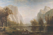 Lake In Yosemite Valley poster print by Albert Bierstadt