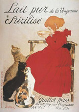 Lait Pur Sterilise poster print by Theophile-Alexandre Steinlen