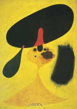 Portrait Of A Young Girl poster print by Joan Miro