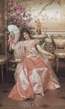 Lady With The Fan poster print by Joseph Soulacroix