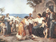 Christ Blessing The Children poster print by H Clementz