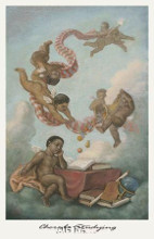 Cherubs Studying poster print by Tim Ashkar