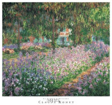 Le Jardin A Giverny poster print by Claude Monet