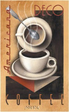 Americana Deco Coffee poster print by Michael L Kungl