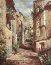 Tuscan Village poster print by Normand Mayer