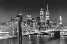 New York, New York, Brooklyn Bridge poster print by Henri Silberman