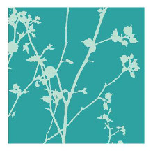 Green Leaves poster print by Kim Robertson