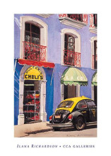 Sweetshop, Puebla poster print by Ilana Richardson