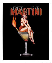 Red Hot Martini poster print by Ralph Burch