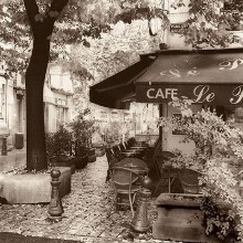 Cafe, Aix-En-Provence poster print by Alan Blaustein