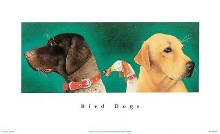 Bird Dogs poster print by Will Bullas