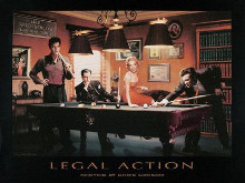 Legal Action poster print by Chris Consani