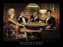 Four Of A Kind poster print by Chris Consani