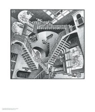 Relativity poster print by M.C. Escher