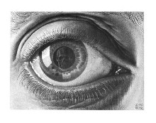 Eye poster print by M.C. Escher