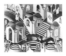 Concave And Convex poster print by M.C. Escher