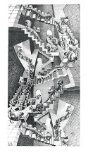 House Of Stairs poster print by M.C. Escher