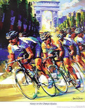 Victory On The Champs Elysees poster print by Malcolm Farley