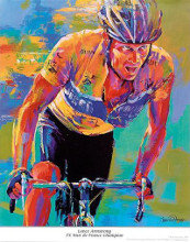Lance Armstrong - 7X Tour De France Cham poster print by Malcolm Farley