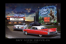 Sky View Drive-In poster print