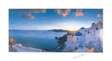 Mykonos Sunset poster print by George Meis