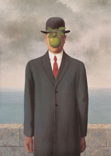 Son Of Man poster print by Rene Magritte