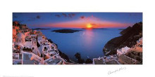 Sunset In The Mediterranean poster print by George Meis