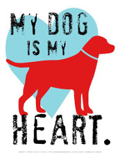 My Dog Is My Heart poster print