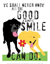 The Good a Simple Smile Can Do poster print