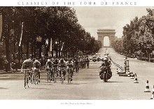1975 Tour Finish On The Champs Elysees poster print by  Presse 'E Sports