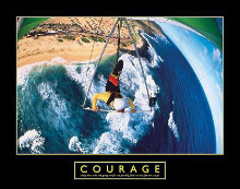 Courage - Hang Glider poster print by H. Roberts