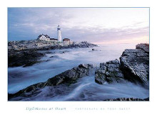 Lighthouse At Dawn poster print by Tony Sweet