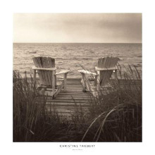 Beach Chairs poster print by Christine Triebert