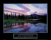 Attitude poster print by  Unknown