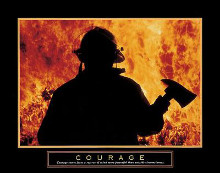 Courage - One Fireman poster print by  Unknown