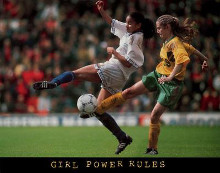 Girl Power Rules - Soccer poster print by  Unknown