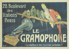 Le Gramophone poster print by  Bombled