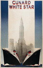 Cunard poster print by  Roquin