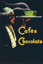Cafes Chocolats poster print by Noel Saunier