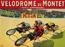 Velodrome Du Mont poster print by  Auzolle
