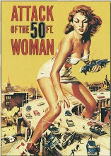 Attack of the 50 Foot Woman poster print