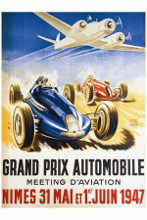 Grand Prix Automobile Nimes poster print by Geo Ham
