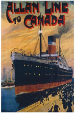 Allan Line To Canada poster print by  Unknown