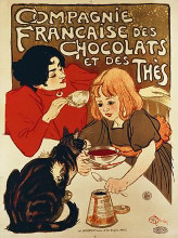 Compagnie Francaise poster print by Theophile-Alexandre Steinlen