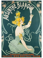 Absinthe Blanqui poster print by  Nouer