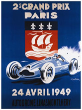 Grand Prix De Paris 24 Avril 1949 poster print by Geo Ham